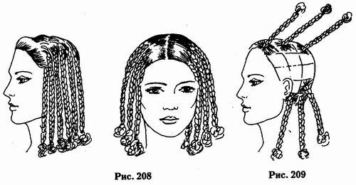 Схема плетения афрокосичек коротких волос